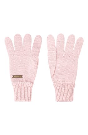 Детские шерстяные перчатки IL TRENINO розового цвета, арт. 20 4055/E0 | Фото 2