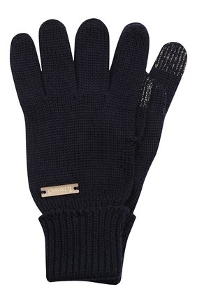 Детские шерстяные перчатки IL TRENINO темно-синего цвета, арт. 20 4056/E0 | Фото 1