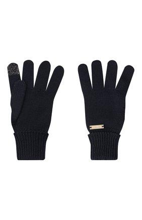 Детские шерстяные перчатки IL TRENINO темно-синего цвета, арт. 20 4056/E0 | Фото 2