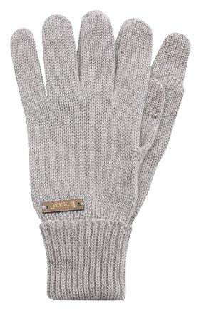 Детские шерстяные перчатки IL TRENINO серого цвета, арт. 20 4056/E0 | Фото 1