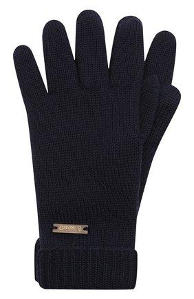 Детские шерстяные перчатки IL TRENINO темно-синего цвета, арт. 20 4063/E0 | Фото 1