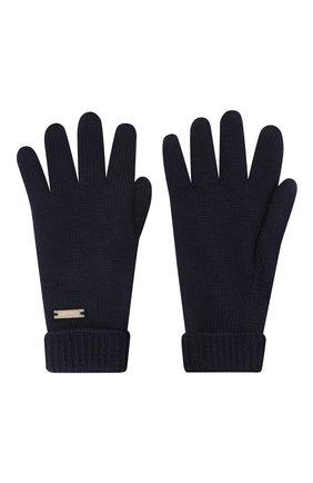 Детские шерстяные перчатки IL TRENINO темно-синего цвета, арт. 20 4063/E0 | Фото 2