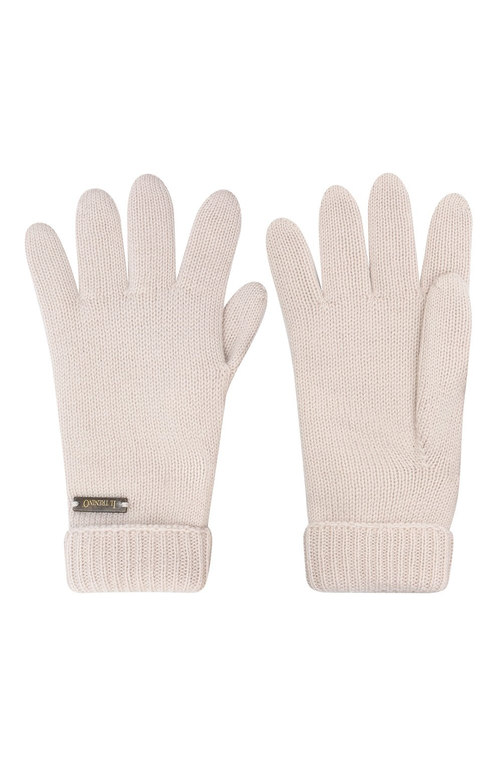 Детские шерстяные перчатки IL TRENINO бежевого цвета, арт. 20 4063/E0 | Фото 2