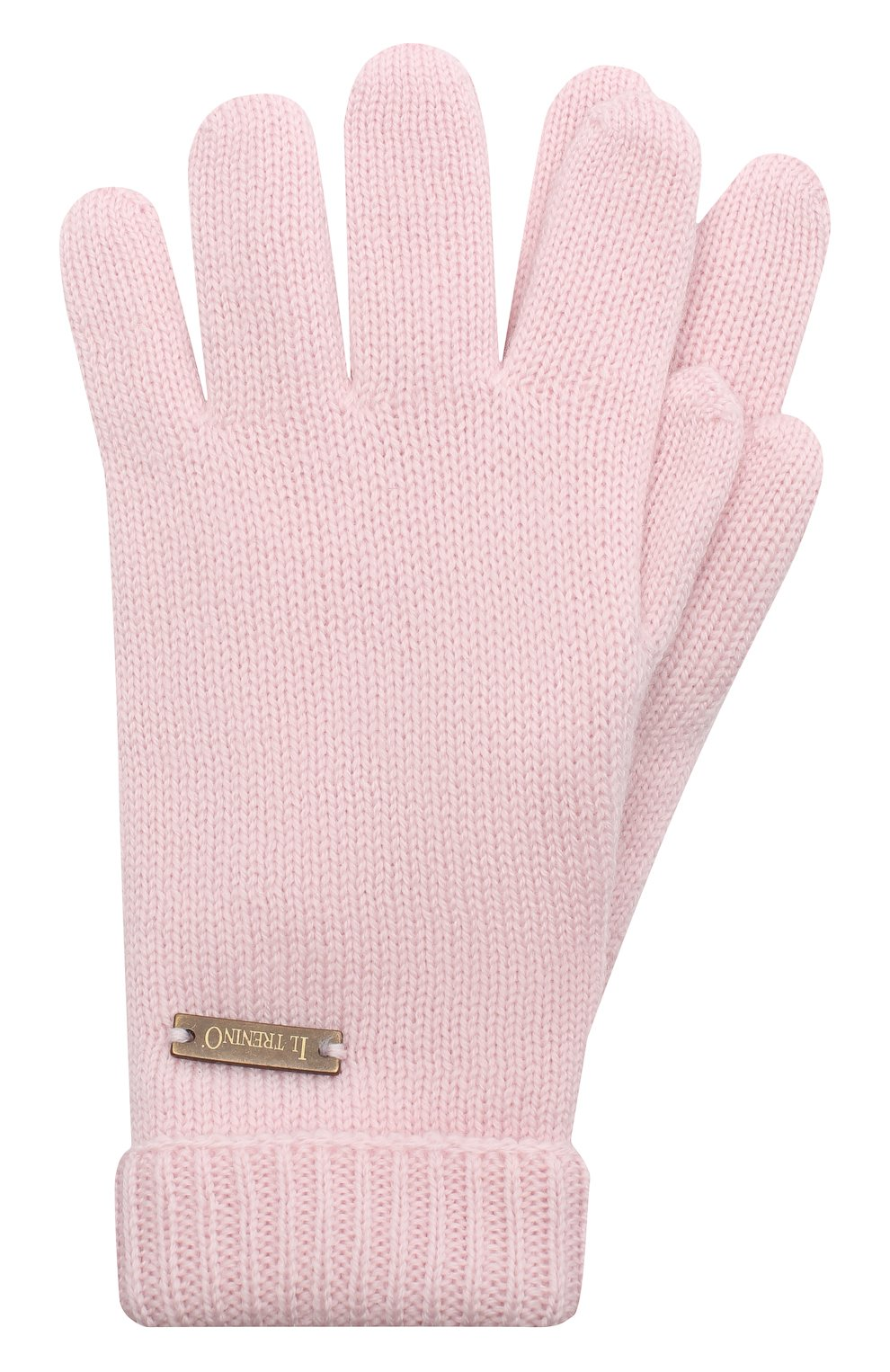 Детские шерстяные перчатки IL TRENINO розового цвета, арт. 20 4063/E0 | Фото 1