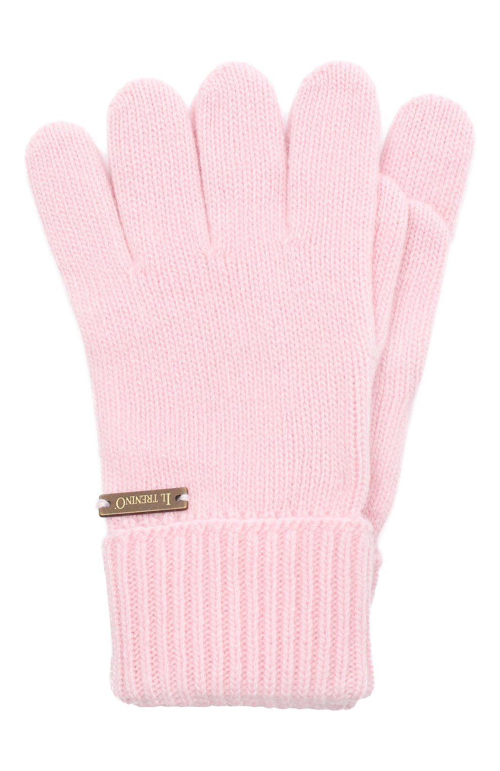 Детские шерстяные перчатки IL TRENINO розового цвета, арт. 20 8218/E0   Фото 1