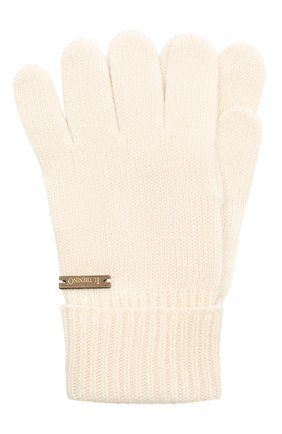 Детские шерстяные перчатки IL TRENINO белого цвета, арт. 20 8218/E0 | Фото 1