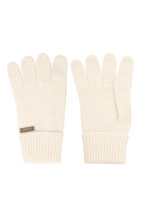 Детские шерстяные перчатки IL TRENINO белого цвета, арт. 20 8218/E0 | Фото 2