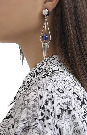Женские клипсы MARNI синего цвета, арт. 0RMV0196A0/M2000 | Фото 2