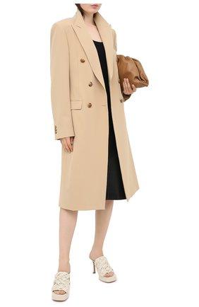 Женские кожаные мюли bv bold BOTTEGA VENETA кремвого цвета, арт. 630175/VBT10 | Фото 2