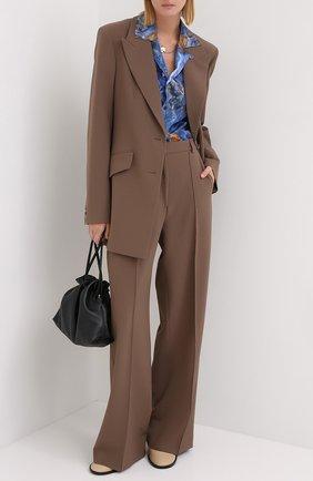 Женский жакет с поясом NANUSHKA коричневого цвета, арт. H0N0R_CLAY_CADY | Фото 2