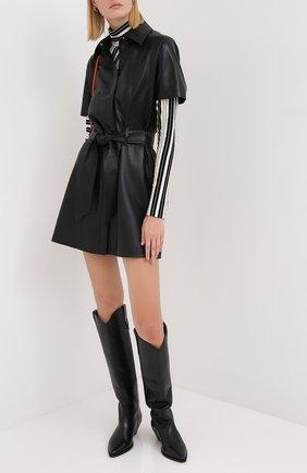 Женское платье с поясом NANUSHKA черного цвета, арт. HALLI_BLACK_VEGAN LEATHER | Фото 2
