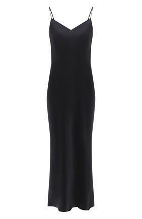 Женская шелковая сорочка MARJOLAINE черного цвета, арт. ODANA | Фото 1