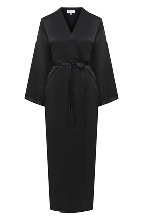 Женский халат MARJOLAINE черного цвета, арт. Laurian | Фото 1