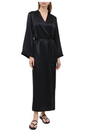 Женский халат MARJOLAINE черного цвета, арт. Laurian | Фото 2