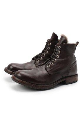Мужские кожаные ботинки MOMA темно-коричневого цвета, арт. 2CW007-CUM | Фото 1