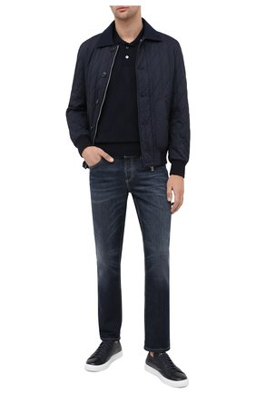 Мужское шерстяное поло CORTIGIANI темно-синего цвета, арт. 919618/0100 | Фото 2