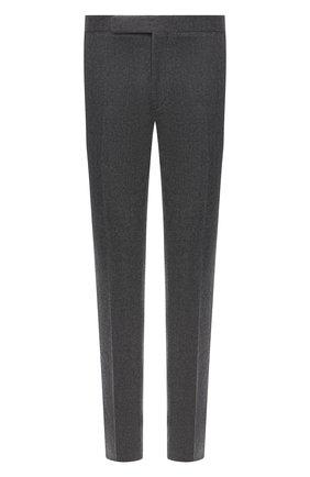 Мужской шерстяные брюки RALPH LAUREN серого цвета, арт. 798819390 | Фото 1