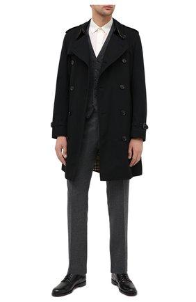 Мужской шерстяные брюки RALPH LAUREN серого цвета, арт. 798819390 | Фото 2
