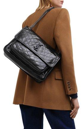 Женская сумка niki large SAINT LAURENT черного цвета, арт. 633157/0EN04 | Фото 2