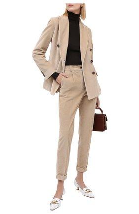 Женские брюки KITON бежевого цвета, арт. D50105S06325   Фото 2