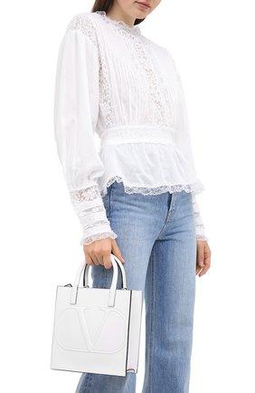 Женская сумка valentino garavani vlogo walk small VALENTINO белого цвета, арт. UW2B0H23/QEL | Фото 2