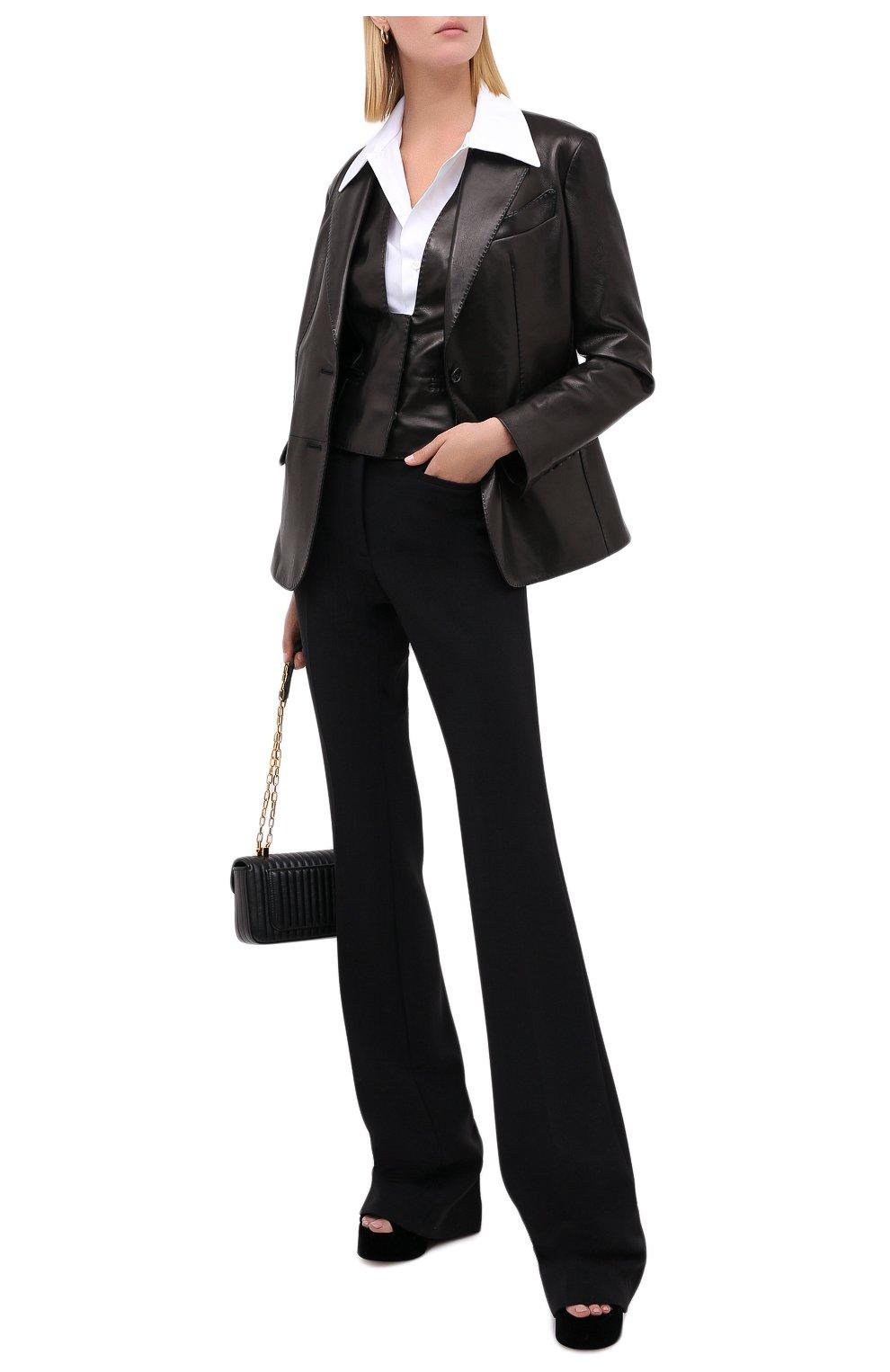 Женский кожаный жилет TOM FORD черного цвета, арт. WAL003-LEX228 | Фото 2