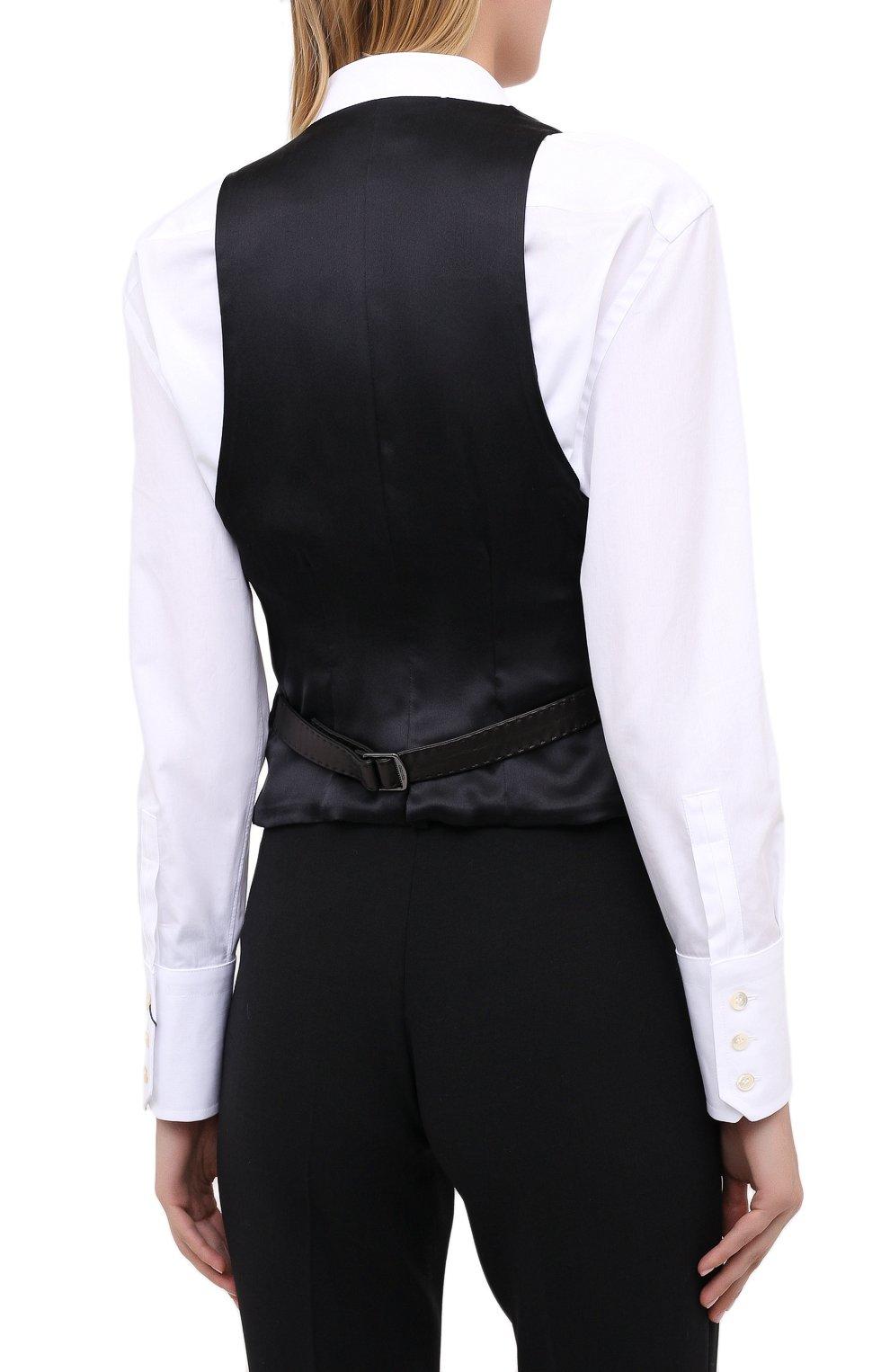 Женский кожаный жилет TOM FORD черного цвета, арт. WAL003-LEX228 | Фото 4