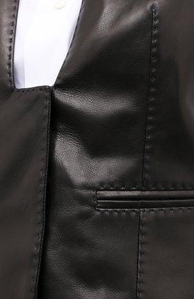 Женский кожаный жилет TOM FORD черного цвета, арт. WAL003-LEX228 | Фото 5