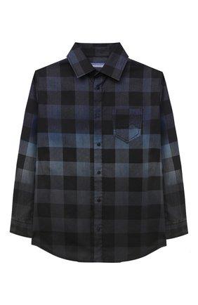 Детская хлопковая рубашка JACOB COHEN синего цвета, арт. J8013 J-01014   Фото 1