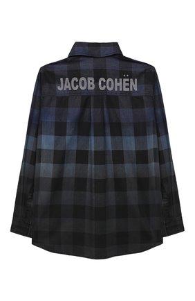 Детская хлопковая рубашка JACOB COHEN синего цвета, арт. J8013 J-01014   Фото 2