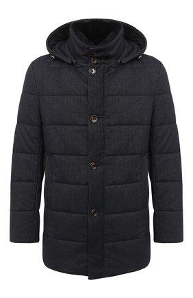 Мужская утепленное пальто GIMO'S темно-синего цвета, арт. 20AI.U.700.620 | Фото 1