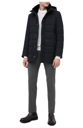 Мужская утепленное пальто GIMO'S темно-синего цвета, арт. 20AI.U.700.620 | Фото 2