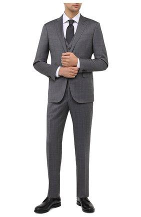 Мужской кожаные дерби W.GIBBS черного цвета, арт. 0220001/2302 | Фото 2