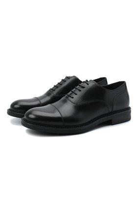 Мужские кожаные оксфорды W.GIBBS черного цвета, арт. 3169009/0214 | Фото 1