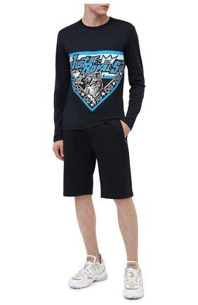 Мужские хлопковые шорты DOLCE & GABBANA темно-синего цвета, арт. GYUTEZ/G7TWG | Фото 2