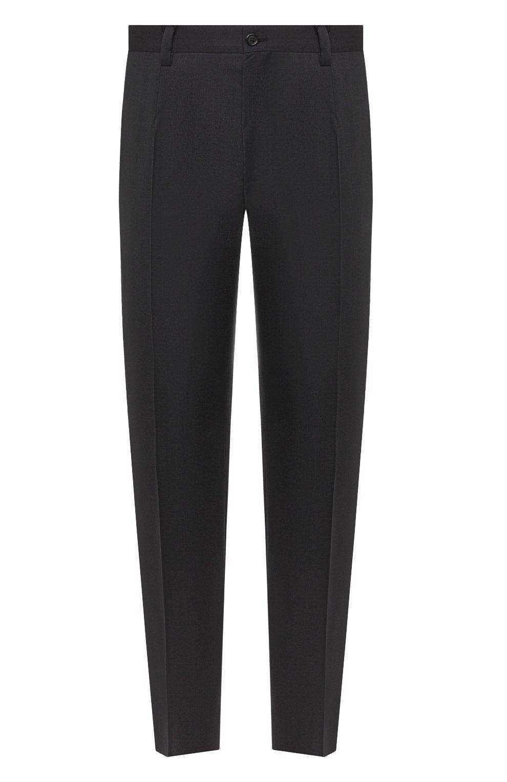 Мужские шерстяные брюки DOLCE & GABBANA серого цвета, арт. GY6IET/FUBFA   Фото 1