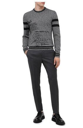 Мужские шерстяные брюки DOLCE & GABBANA серого цвета, арт. GY6IET/FUBFA   Фото 2