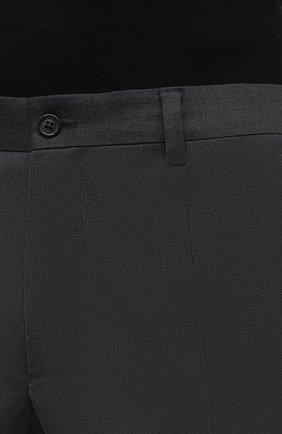 Мужские шерстяные брюки DOLCE & GABBANA серого цвета, арт. GY6IET/FUBFA   Фото 5