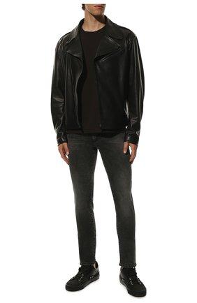 Мужские джинсы DOLCE & GABBANA серого цвета, арт. GY07LD/G8C07 | Фото 2