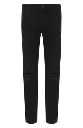 Мужские джинсы DOLCE & GABBANA черного цвета, арт. GY07CZ/G8C03 | Фото 1