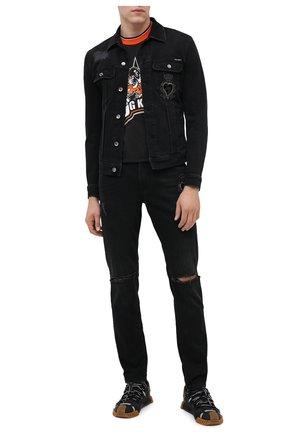 Мужские джинсы DOLCE & GABBANA черного цвета, арт. GY07CZ/G8C03 | Фото 2