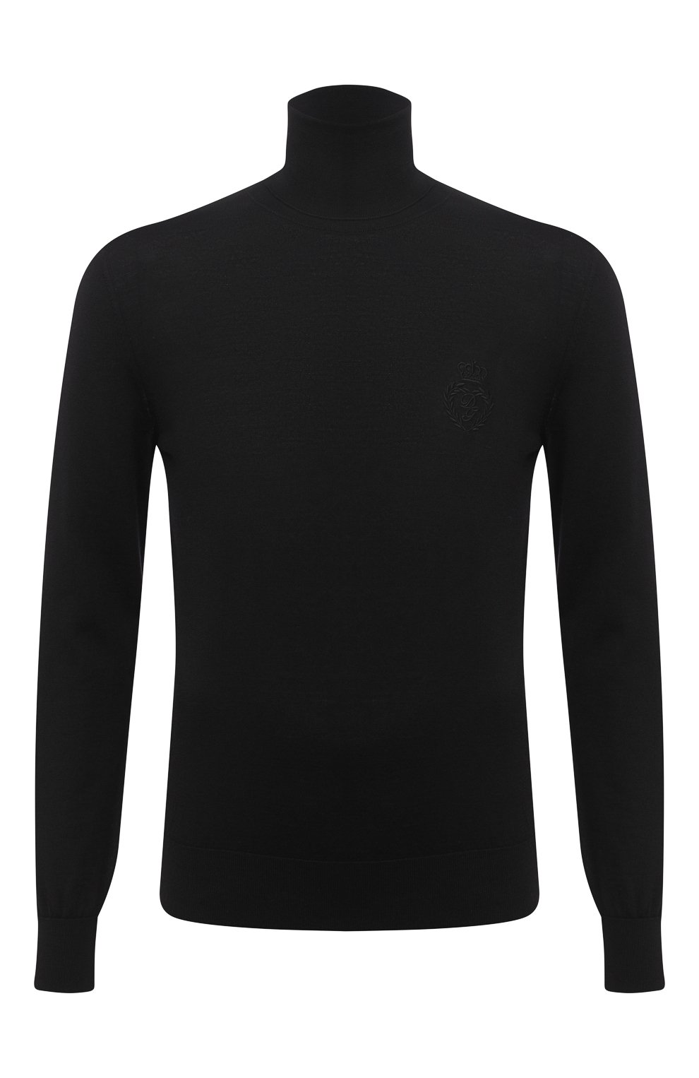 Мужской шерстяная водолазка DOLCE & GABBANA черного цвета, арт. GXB00Z/JAVWH | Фото 1