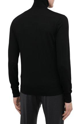 Мужской шерстяная водолазка DOLCE & GABBANA черного цвета, арт. GXB00Z/JAVWH | Фото 4