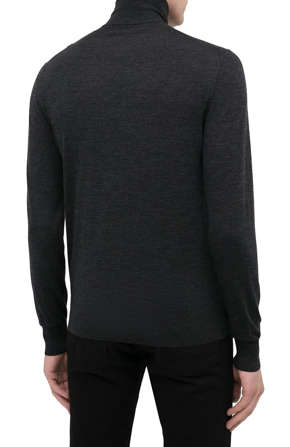 Мужской шерстяная водолазка DOLCE & GABBANA темно-серого цвета, арт. GXB00Z/JAVWH | Фото 4