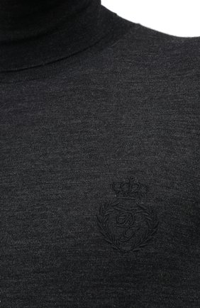 Мужской шерстяная водолазка DOLCE & GABBANA темно-серого цвета, арт. GXB00Z/JAVWH | Фото 5