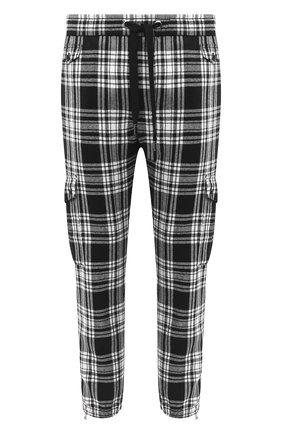 Мужской шерстяные джоггеры DOLCE & GABBANA черно-белого цвета, арт. GWQ4AT/FQMG7 | Фото 1