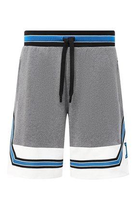 Мужские хлопковые шорты DOLCE & GABBANA серого цвета, арт. GW52AZ/G7TNG | Фото 1
