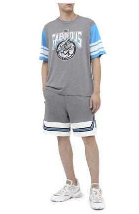 Мужские хлопковые шорты DOLCE & GABBANA серого цвета, арт. GW52AZ/G7TNG | Фото 2