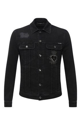 Мужская джинсовая куртка DOLCE & GABBANA черного цвета, арт. G9JC2Z/G8C03 | Фото 1