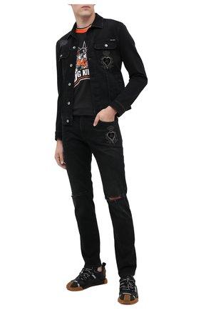 Мужская джинсовая куртка DOLCE & GABBANA черного цвета, арт. G9JC2Z/G8C03 | Фото 2